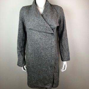 BB Dakota Asymmetric Zip Coat Jacket Heather Gray